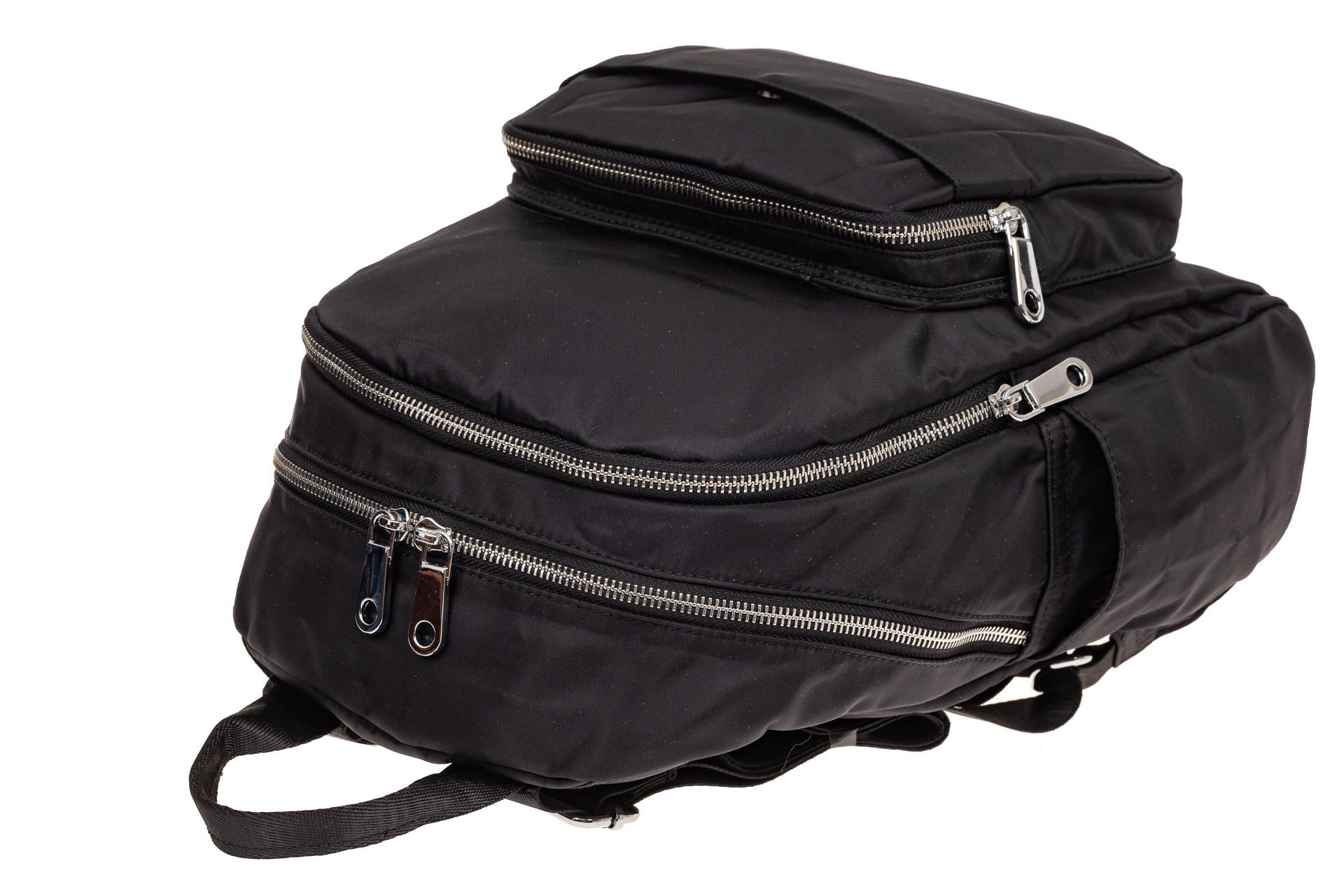 На фото 3 - Городской женский рюкзак из текстиля, цвет черный