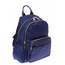 На фото 1 - Городской женский рюкзак из текстиля, цвет синий