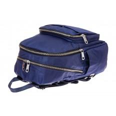 На фото 3 - Городской женский рюкзак из текстиля, цвет синий
