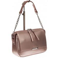 На фото 1 - Женская сумка из натуральной кожи, цвет роз...
