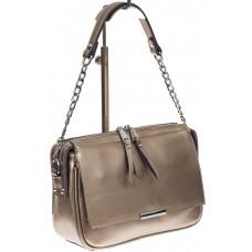 На фото 1 - Женская сумка из натуральной кожи, цвет бро...