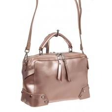 На фото 1 - Мини shoulder bag для лета из натуральной кожи, цвет пудра