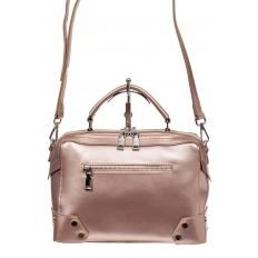 На фото 2 - Мини shoulder bag для лета из натуральной кожи, цвет пудра