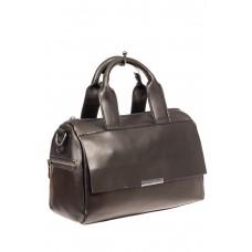 На фото 1 - Вместительная сумка из натуральной кожи, цв...