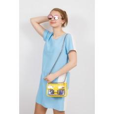 На фото 4 - Яркая и летняя кросс-боди из прозрачного винила, цвет желтый