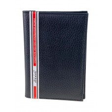 На фото 1 - Кожаная обложка для паспорта и автодокументов, цвет чёрный