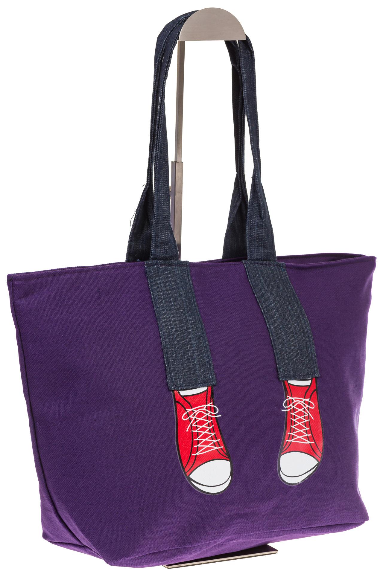 На фото 1 - Фиолетовый шопер в стиле Keddo 3535
