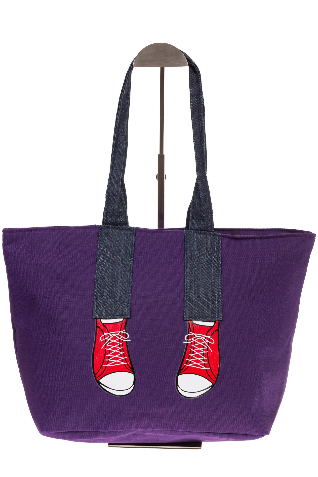 На фото 2 - Фиолетовый шопер в стиле Keddo 3535