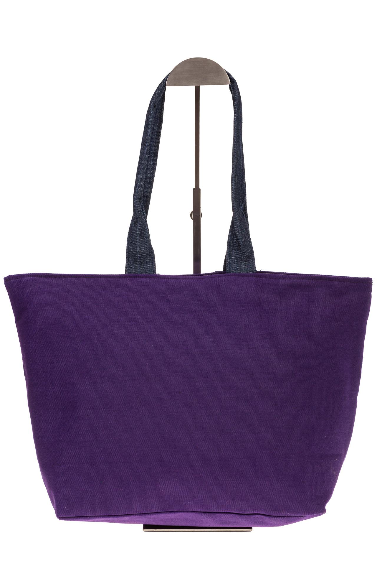 На фото 3 - Фиолетовый шопер в стиле Keddo 3535