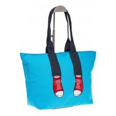 На фото 1 - Голубой шопер в стиле Keddo, хозяйственный