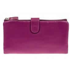 На фото 1 - Женский кошелек из натуральной кожи, цвет ф...