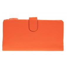 На фото 1 - Женский кошелек из натуральной кожи, цвет о...