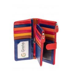 На фото 2 - Женский кошелек из натуральной кожи, цвет красный