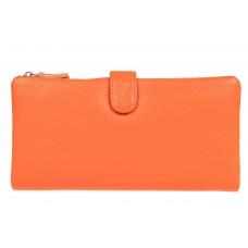 На фото 1 - Портмоне-кошелек женское, цвет оранжевый