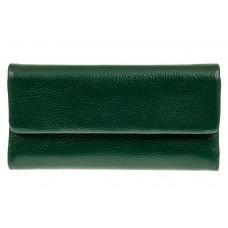 На фото 1 - Женский кошелек из натуральной кожи, цвет з...