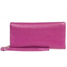 На фото 1 - Стильный кошелек-клатч женский, цвет фиолетовый