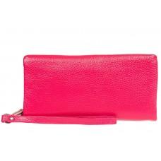 На фото 1 - Стильный кошелек-клатч женский, цвет фуксия