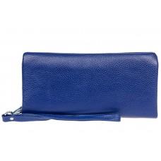На фото 1 - Стильный кошелек-клатч женский, цвет синий
