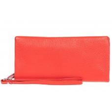 На фото 1 - Стильный кошелек-клатч женский, цвет красный