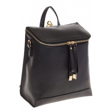 Рюкзак-трансформер из эко-кожи черного цвета 361 для оптовых покупателей