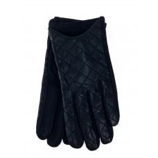 На фото 1 - Перчатки женские автоледи, цвет черный