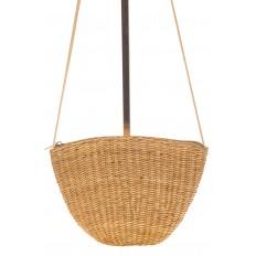На фото 3 - Соломенная сумка-ведро коричневого цвета 3781