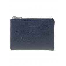 На фото 1 - Женский кожаный кошелёк, цвет чёрный