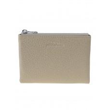 На фото 1 - Женский кожаный кошелёк, цвет бежевый