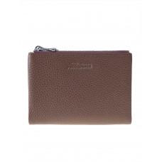 На фото 1 - Женский кожаный кошелёк, цвет пыльная роза