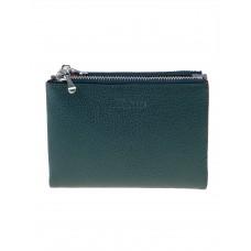 На фото 1 - Женский кожаный кошелёк, цвет тёмно-зелёный