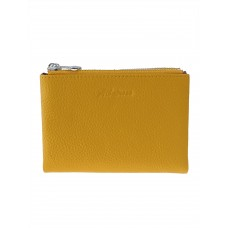 На фото 1 - Женский кожаный кошелёк, цвет жёлто-оранжевый