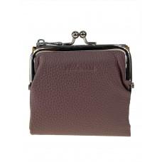 На фото 1 - Кожаный женский кошелёк с фермуаром, цвет пыльная роза