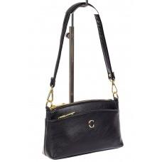 На фото 1 - Женская сумка из эко-кожи на каждый день, черная