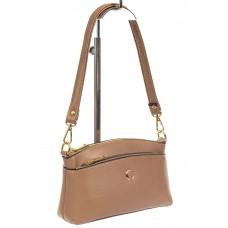 На фото 1 - Женская сумка из эко-кожи, бежевая