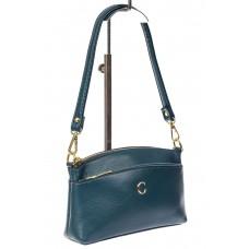 На фото 1 - Женская сумка из эко-кожи, синяя