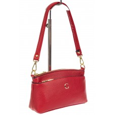 На фото 1 - Женская сумка из эко-кожи, красная
