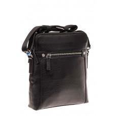 На фото 1 - Мужская сумка через плечо из натуральной ко...