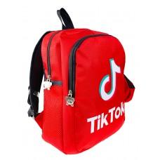 На фото 1 - Рюкзак детский со стильным принтом и кошельком, цвет красный