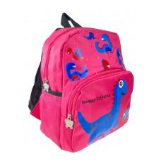 На фото 1 - Детский рюкзак с динозавриками, цвет фуксия
