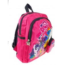 На фото 1 - Рюкзак детский с ярким принтом, цвет фуксия