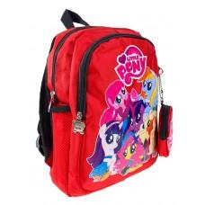 На фото 1 - Рюкзак детский с ярким принтом, цвет красный