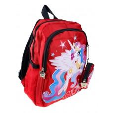 На фото 1 - Красный рюкзак детский с ярким принтом