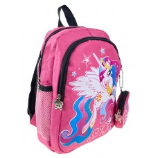 На фото 1 - Рюкзак детский с ярким принтом, цвет розовый