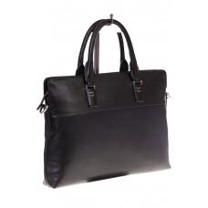 На фото папка-портфель для мужчин черного цвета из натуральной кожи, купить оптом в магазине Грета