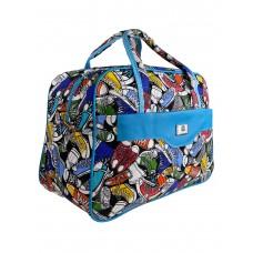 На фото 1 - Тканевая женская сумка для фитнеса с принтом