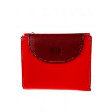 На фото 1 - Женский кожаный кошелёк, цвет красный с бордовым