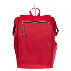 На фото 2 - Оригинальный молодежный рюкзак из текстиля, цвет – красный