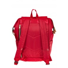 На фото 3 - Оригинальный молодежный рюкзак из текстиля, цвет – красный