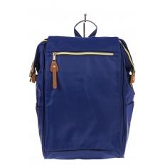 На фото 2 - Оригинальный молодежный рюкзак из текстиля, цвет – синий