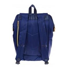 На фото 3 - Оригинальный молодежный рюкзак из текстиля, цвет – синий